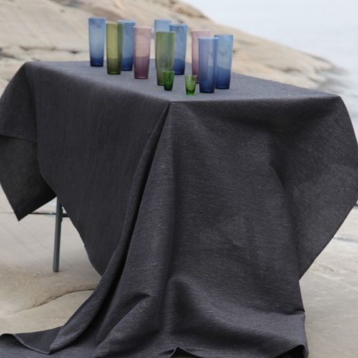Pisa Design - Tablecloth 155x150 122s black-grey
