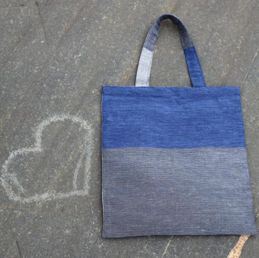 Tote bag 26L stripe blue
