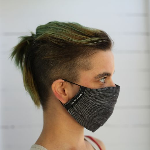 Linen Face Mask 12L steel grey