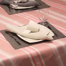 Tablecloth 270 light, 44L raspberry, striped