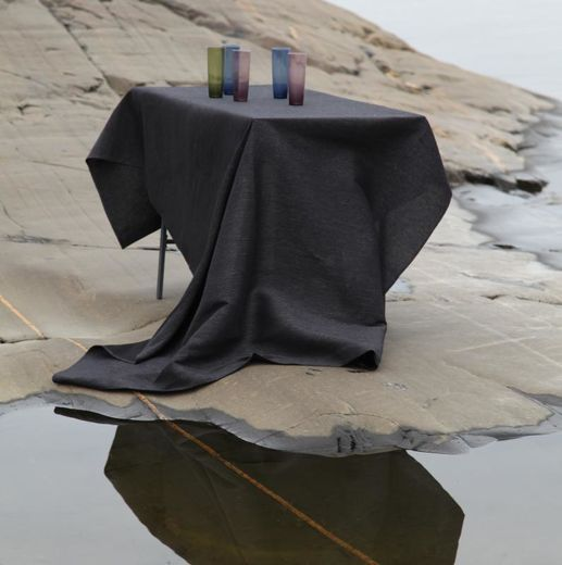 Tablecloth 155x230 122s black-grey