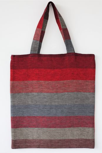 Tote bag 452s plummy stripes