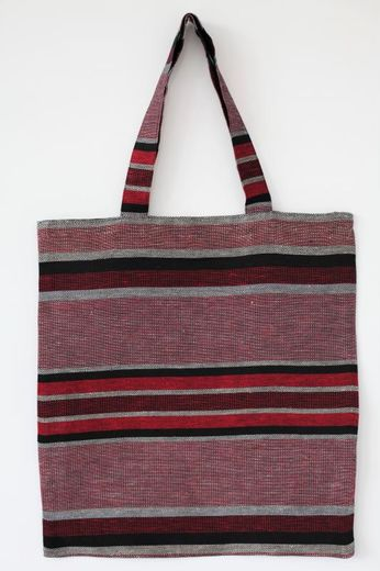 Tote bag 47L red christmas stripes