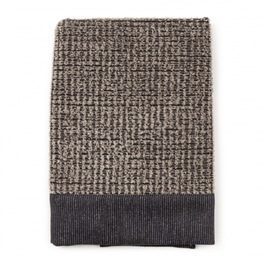 Linen terry bathtowel 70x140 122s black-grey